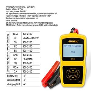 Image 4 - AUTOOL BT360 12V 자동 배터리 테스터 12v 자동차 배터리 분석기 bt460보다 다국어 진단 도구 성능 크랭크