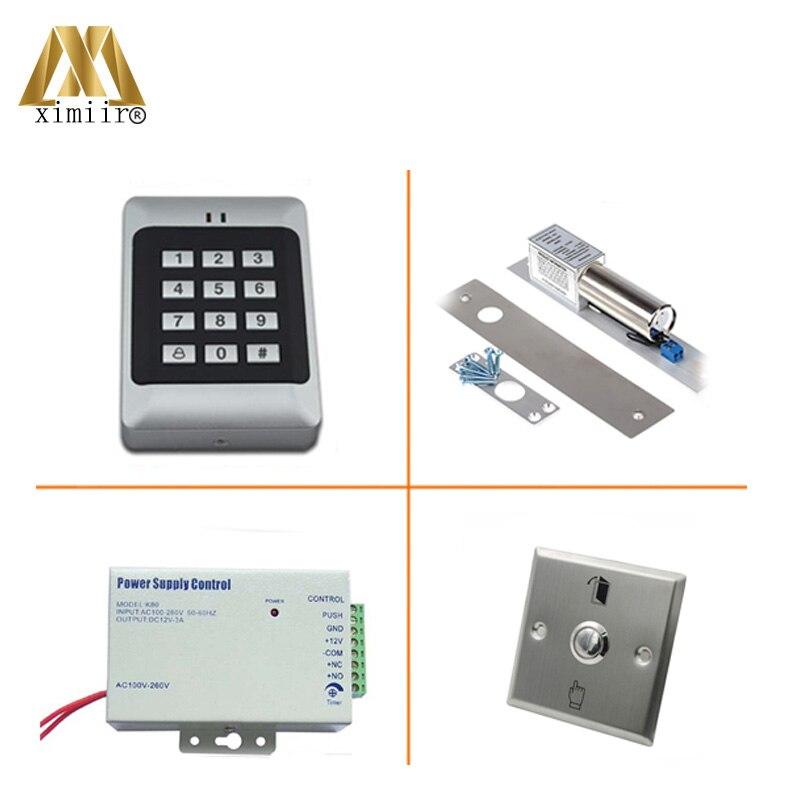 RFID Reader Deur Access Control Met Toetsenbord Enkele Deur Toegangscontrole Systeem Met Elektromagnetische Slot Voeding Standalone - 4