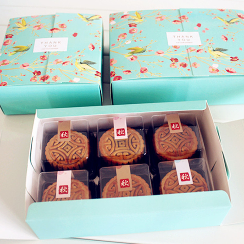 Moon Cake Box Packaging Cake Paper Box Bakery Gift Packaging For Mooncake, Macaron Paper Boxes Packaging Boxes Cookie Packaging