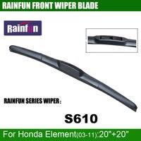 RAINFUN S610 Dedicated Car Wiper Blade For Honda Element 03 11 Dedicated Windscreen Wiper Natural Windshield