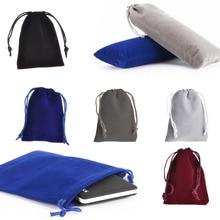 цена на centechia Universal Soft Velvet Cloth Pouch Bag Pocket Purse Case Pouch Bag For Mobile Phone Cellphones