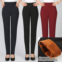 High waist elasticity in 2017 Warm winter pants women Top qu