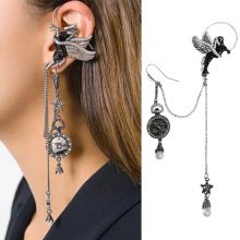 punk rock  fashion flying horse ear hang temperament long pendant earrings jewelry vintage drop