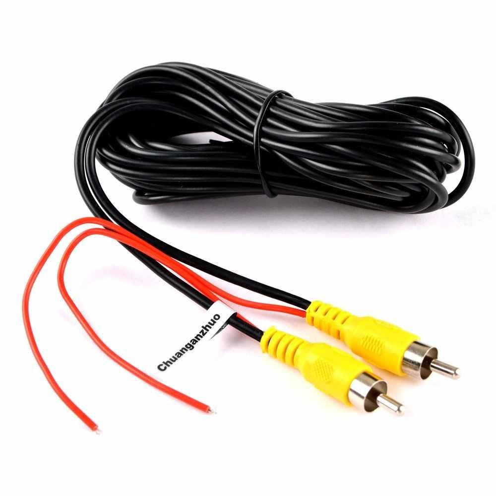 BYNCG kabel av 6m metrów kabel wideo RCA do samochodu kamera cofania z trybem parkingowym kamera tylna podłącz Monitor kabel wyzwalacza DVD 6M
