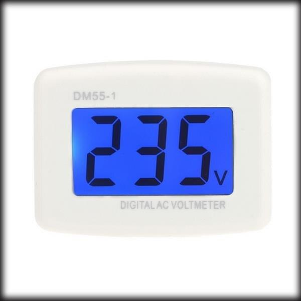 by dhl or ems 100pcs DM55 1 AC 80 300V LCD Digital Volt Meter Voltmeter EU