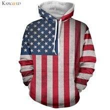 Современные Для мужчин верхняя одежда американский флаг Пальто и пуховики Винтаж звезда знамя принт Костюмы Мальчик Хип-хоп пальто карман пуловер apr16