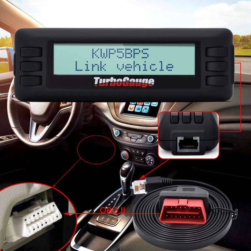 New TurboGauge IV Auto Trip Computer Scan Tool Digital Gauge 4 in 1 Automotive Computer for Vehicles 8905504848 automotive computer board