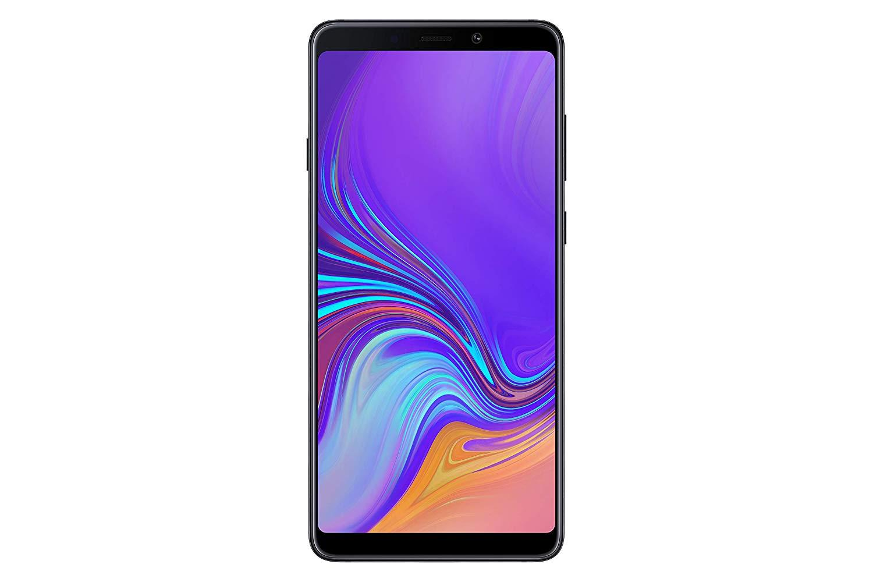 Samsung Galaxy A9 (2018), couleur noire (noir), 128 go de mémoire interne, 6 go de mémoire vive, écran 6.3