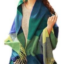 luxury brand Winter warm Plaid Scarf Designer Unisex Basic Shawls Women's Imitation cashmere scarves for women