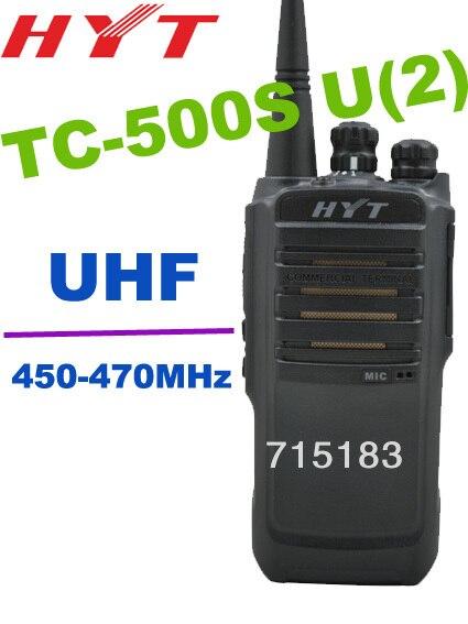 HYT TC-500S UHF: 450-470 MHz 4 W 16CH De Poche Talkie Walkie