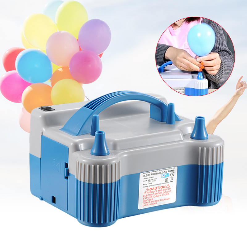 Balloon Electric Nozzle 700W Inflator Blue High Speed Air Pump 220-240V HUG-Deals