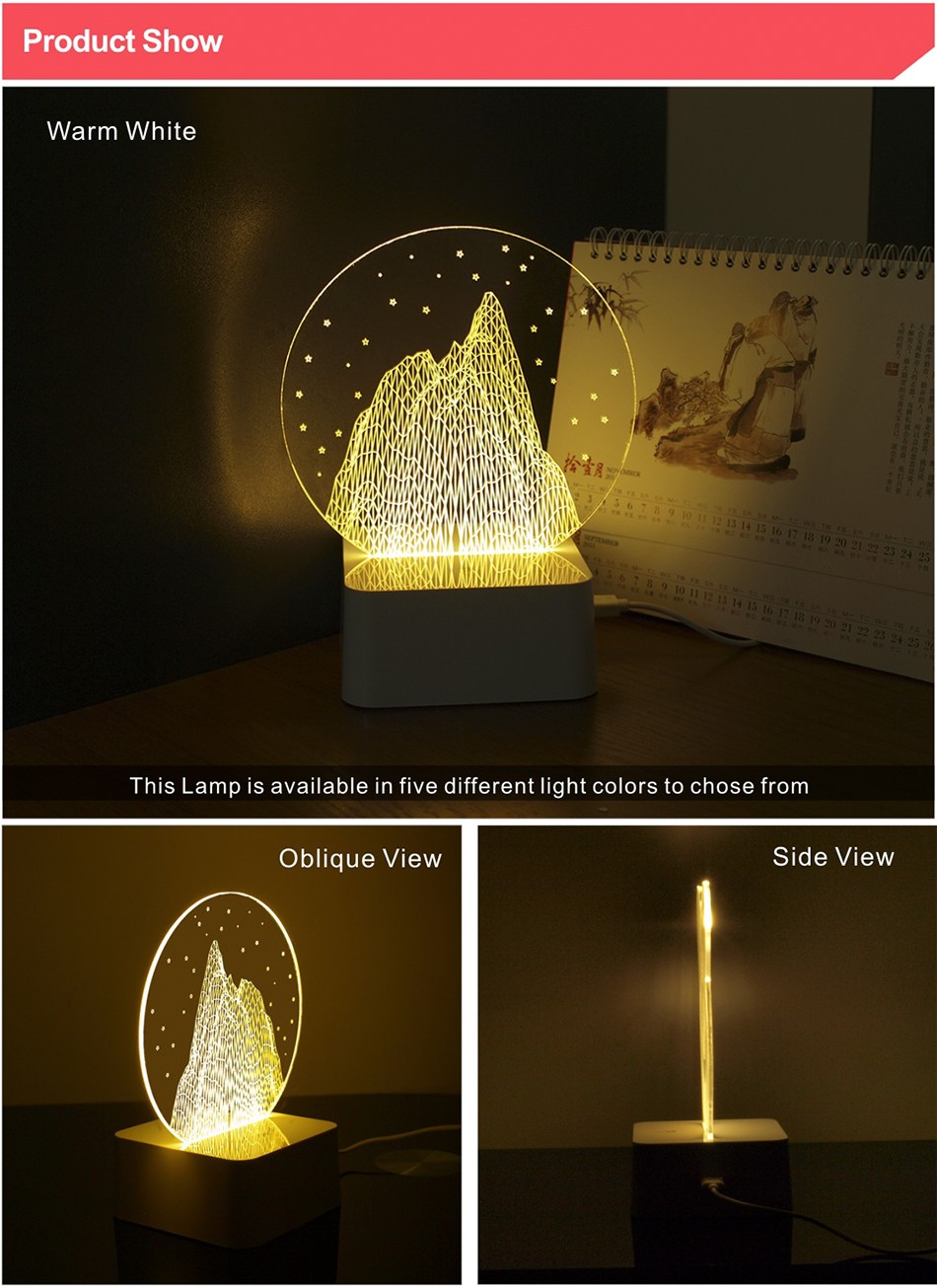 Kids Gift Round Crystal Modern Mountain Nordic Controler Bedside Lava Lamp 3d LED Night Lights (2)
