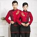 Restaurante chinês uniforme para clothing manga longa uniforme de garçonete bar garçom desgaste do trabalho uniforme 18