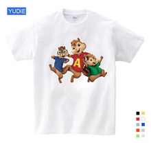 2019 Fashion  Hot Sale ! New Alvin and The Chipmunks Boys Tops Girls Costume Kids Free Shipping YUDIE