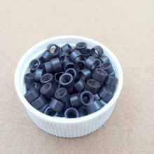 1000pcs  4.5 mm Hair Extension aluminium  Microringe  Micro links Beads Links with Screw thread 3# dark brown color
