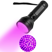 UV Flashlight 51 LEDs Handheld Ultraviolet Streamlight Pet Dog and Cat Urine Stain Detector 395nm Novelty Lighting Flash Light