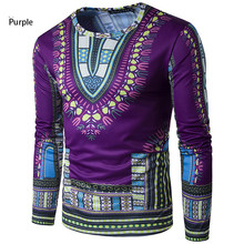 7  Colors fashion design african traditional printed cotton Dashiki T-shirts for unisex