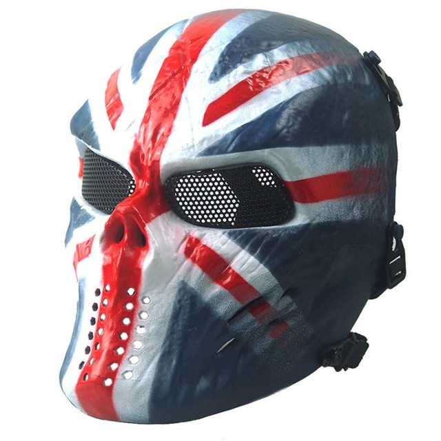 Nov. Halloween Mask Air soft Paintball Full Face Skull Skeleton Mask Tactical Military Masks