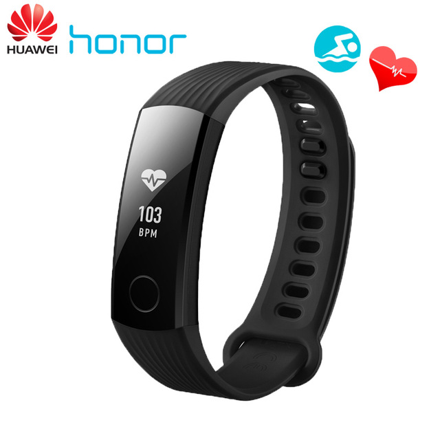 Huawei Honor Band 3 Swimming Smart Wristband Real-time Heart Rate Monitoring 5ATM Waterproof Fitness Tracker for Android iOS