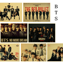 Bangtan Boys BTS Wall poster for Girl's room Livingroom Bedroom Decorations Wall sticker Pictures Gifts Home Decor(China)