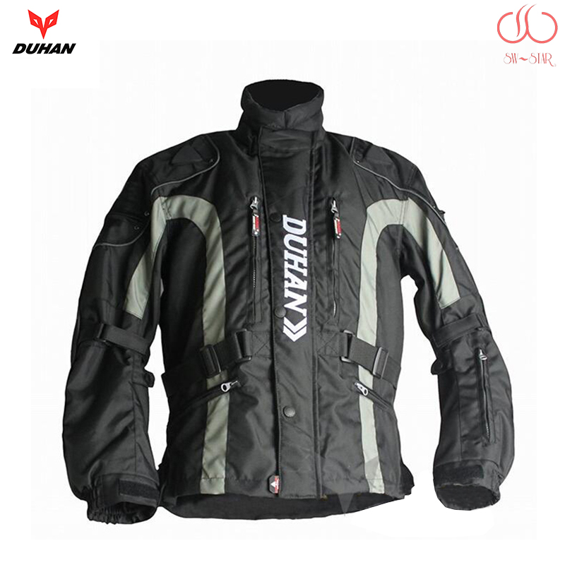 DUHAN motorcycle jacket motorbike long road travel racing jacket with removable Cotton Lining rally clothing HRC team JD023