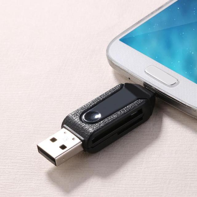 ALLOYSEED USB2.0 Micro USB OTG Card Reader for TF SD Memery Card for PC Mobile Phone for Android phone Computer notebook 4