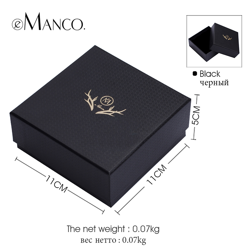 Jewelry package box high quality gift boxes black 11*11*5 elegant ...