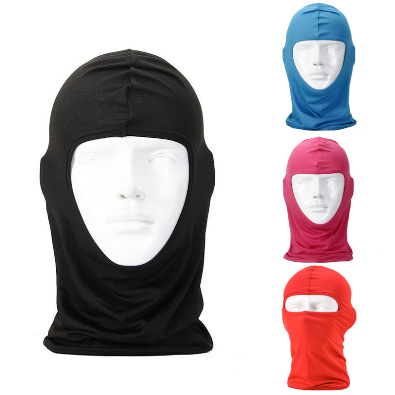 2019 Windproof Practical Motorcycle Cycling Skin Neck Protecting Lycra Full Face Mask Outdoor Climbing Hiking   Headwear