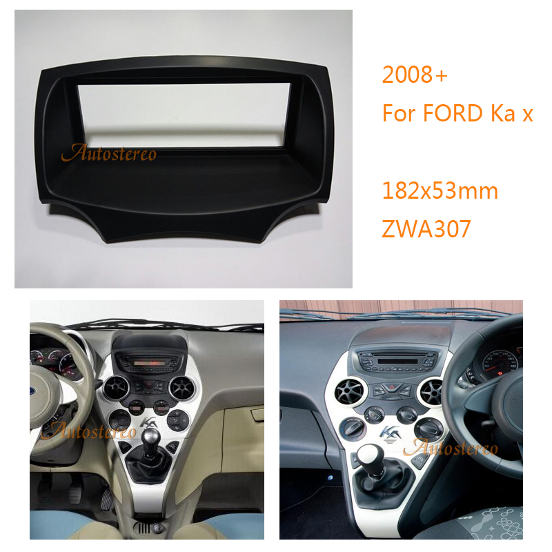 Car Fascia Panel Stereo Adaptor Radio Fitting Kit For Ford Ka Stereo Panel Dash Face Frame Fascia Mounting Installation Trim Kit In Fascias From Automobiles