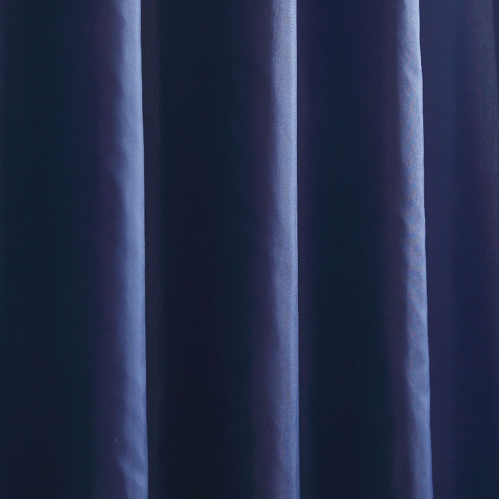 Solid Dark blue color high quality bathroom curtains shower curtains ...