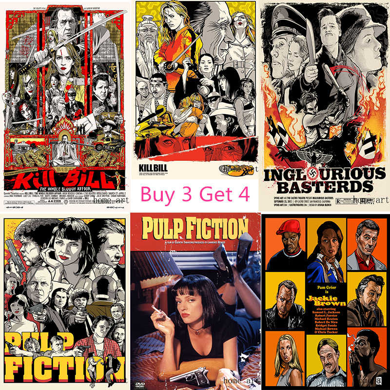 Pulp Fiction Kill Bill  Poster Clear Image Wall Stickers Home Decoration Good Quality Prints White Coated Paper