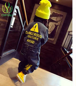 CNFSNJ Fashion Jeans Jumpsuit Costume Graffiti Cowboy Newborn Baby-Boy-Girls Denim Baby