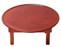 Asian Antique Round Coffee Table Folding Leg 60 70 80 90cm Living Room Furniture Korean Floor