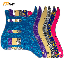 Pleroo Guitar  Accessories 11 Screw Hole Pickguard for Fender Stratocaster USA/Mexican Standard ST HSS with PAF Humbucker купить дешево онлайн