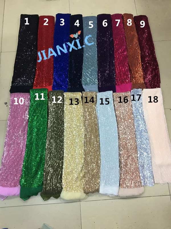 19 colors JIANXI C 72708 Top Quality African embroidered Tulle Lace Fabric with sequins for party