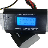 New Arrival Multifunction LCD PC Computer PC LCD MINI IV Power Supply Tester ATX BTX ITX