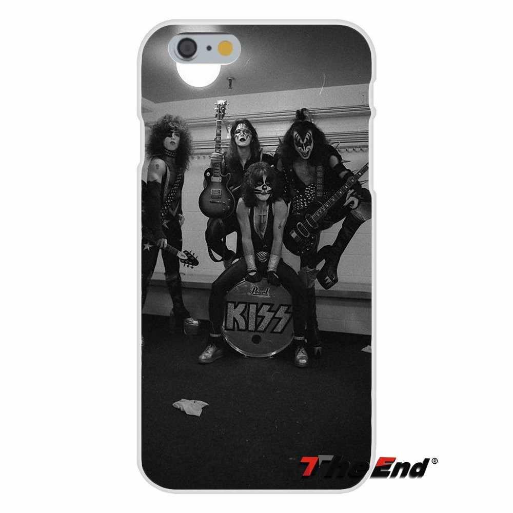 США рок-группа Kiss с принтом силиконовый мягкий чехол для iPhone X 4 4S 5 5S 5C SE, 6, 6 S, 7, 8 Plus Galaxy большое ядро рrime alрha