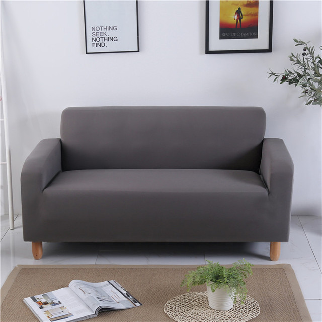 Solid Color Stretch Slipcover Three All Inclusive Generic Leather Sofa Cushion Cover Towel Universal