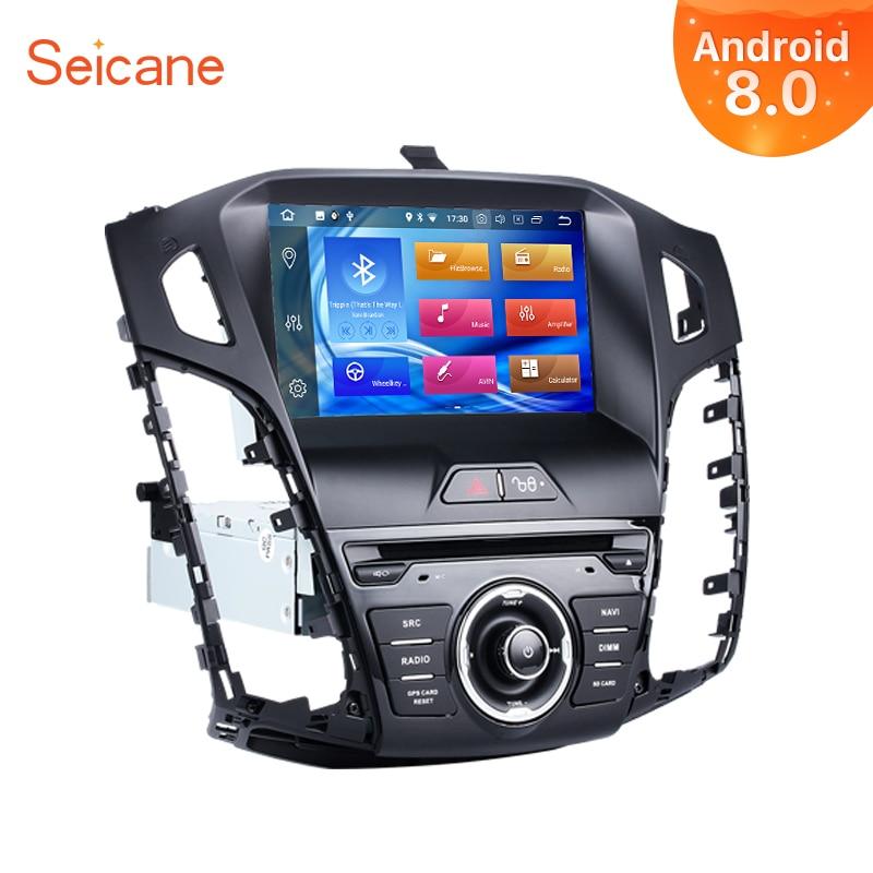 Seicane Android 8.0 8 pouces 1Din autoradio Pour 2011 2012 2013 Ford Focus 8-core 4 GB RAM Tochscreen lecteur multimédia Soutien Wifi