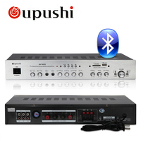 Oupushi 160W KTV amp HiFi 2.0 channel MP3 play Bluetooth digital amplifier karaoke amplifier home theater audio With Speakers