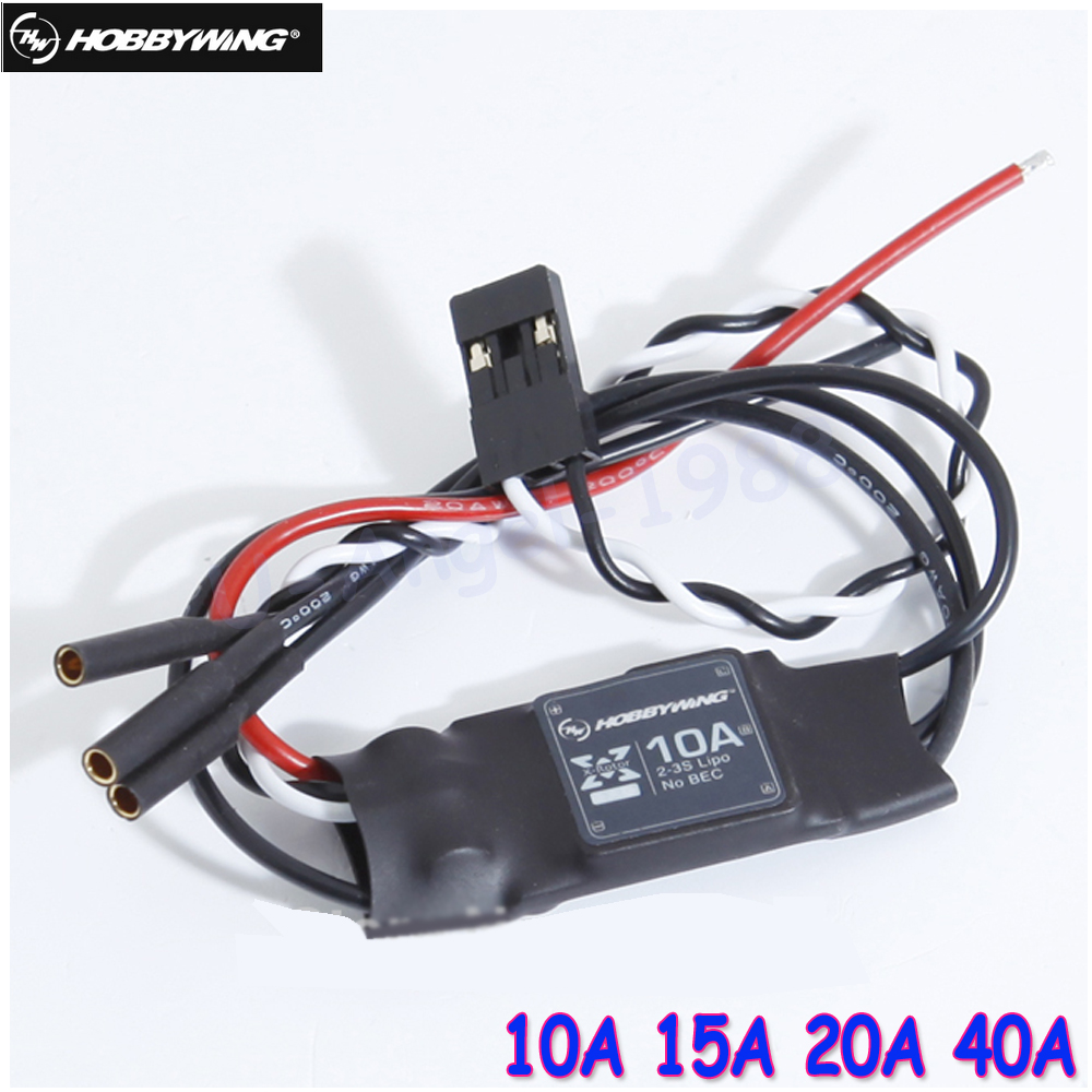 1pcs 100% Hobbywing XRotor 10A 15A 20A 40A Brushless ESC 2-3S Speed Control for RC Quadcopter Multicopter QAV 250 цена и фото