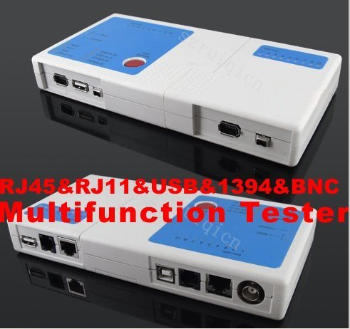 RJ45 LAN Network RJ11 Phone USB 1394 BNC Cable Multifunction Tester