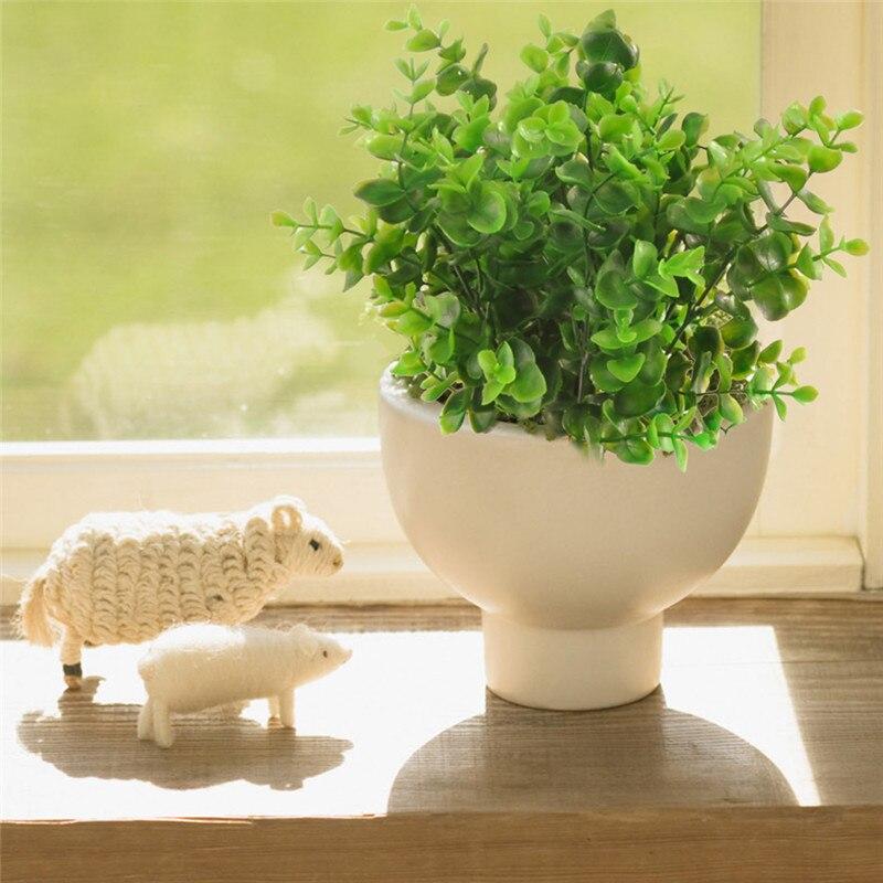 2pcs Artificial grass Plastic Silk Milan/Eucalyptus/Persian Bushes 7 branch for Home Garden Office Floor Wedding home decoration