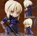Action Figure Fate/stay night Cute Nendoroid 10cm Black Saber Model PVC Q version clay Toys Model Japanese Anime