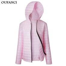 OUFANCI Women font b Parkas b font 2017 New Winter Autumn Ladies Slim Jacket Women Hooded