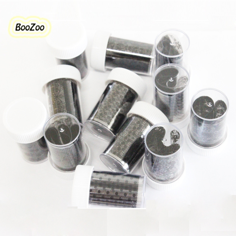 BlueZoo Roll 52*3.5cm In Hard Jar Nail Art Decoration Paper Wrap Foil Transfer Sticker Sparkle Laser Becket Easy Black White quality guarantee yellow matte vinyl wrap film foil car sticker with air bubble free fedex free shipping size 1 52 30m roll