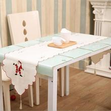 40*170CM Fancy Santa Claus Embroidery Hollow Christmas Table Flag Table  Runners Wedding Party Chair