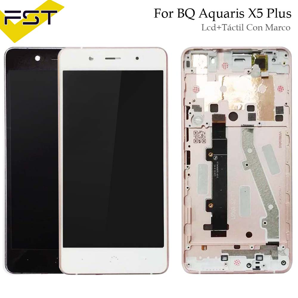 For BQ Aquaris X5 Plus LCD Display+Touch Screen LCD Digitizer With Frame Glass Panel LCD Panel Tactil Con Marco For X5 PlusFor BQ Aquaris X5 Plus LCD Display+Touch Screen LCD Digitizer With Frame Glass Panel LCD Panel Tactil Con Marco For X5 Plus