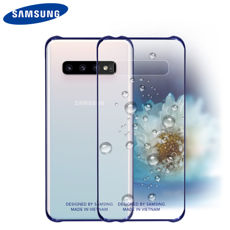 For Samsung S10 Case Official Original Clear Shockproof Hard Cover Transparent PC Shockproof Galxy S8 S9 S10 Plus S10e Back Case