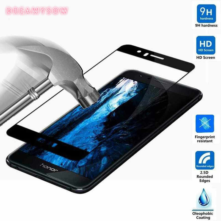 Full Cover 9H Tempered Glass For Huawei Y7 2018 P20 Pro NOVA 3E 2i P Smart P8 P9 P10 2017 Honor 7X 8 Lite 2017 Screen Protector